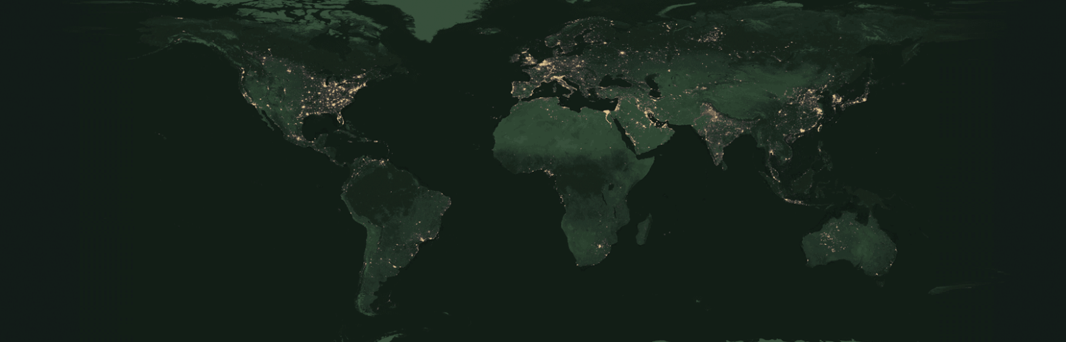 Map of Earth at Night