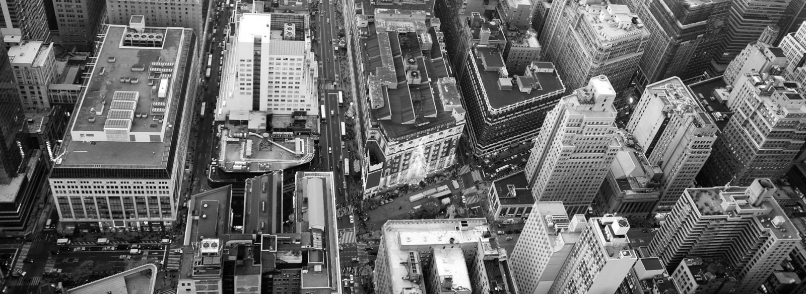 Aerial view of Hearald Sq NYC
