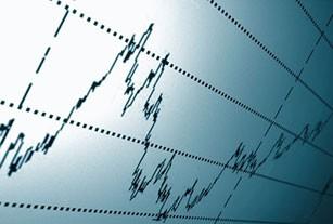 dramatic lighting of financial chart