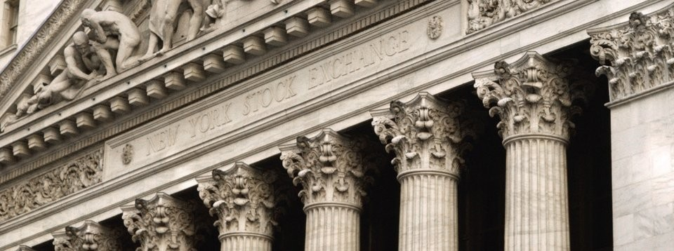 New York Stock Exchange facade closeup